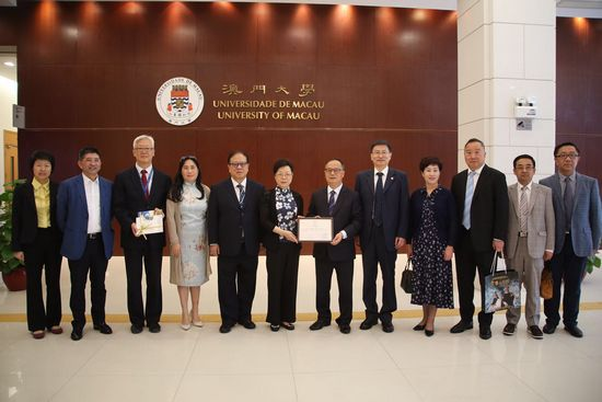 Shanghai CPPCC Delegation Visits the University of Macau